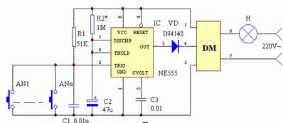 单稳态控制电路图及原理图片
