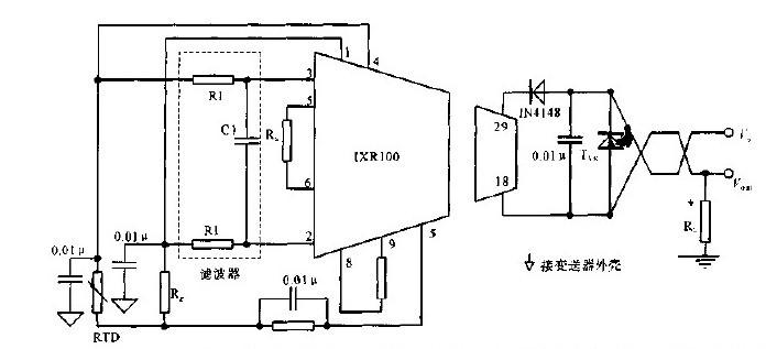 电路图其它电路图; 铂电阻温度变送器的电路图;; pt100 电路图;