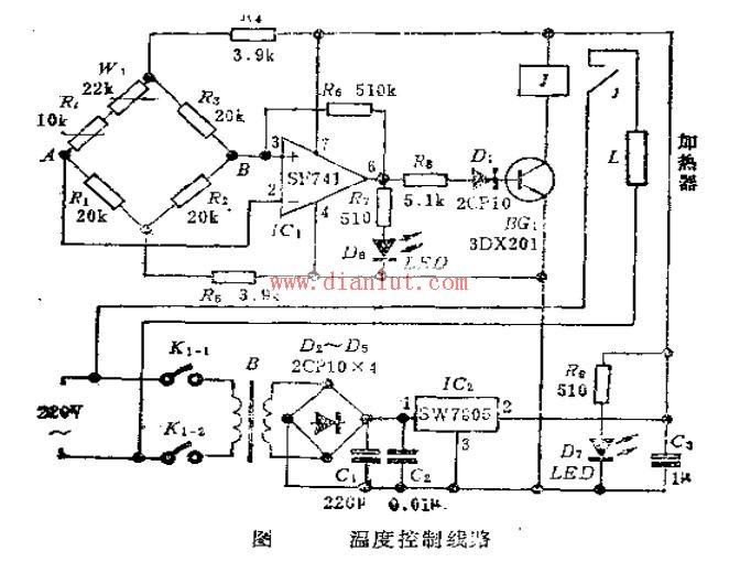 温度控制电路电路图