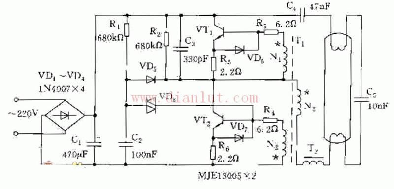 【图】电子整流器电路图电源电路