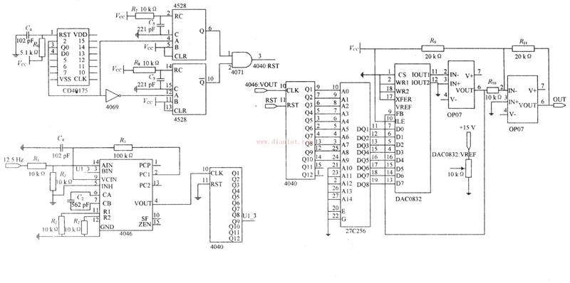 闪变信号电路主要电路图