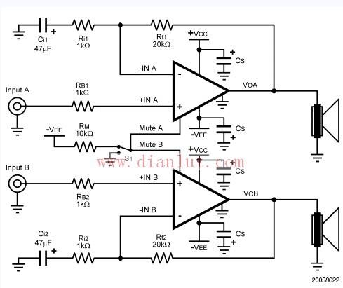 LM4780音频放大电路应用电路