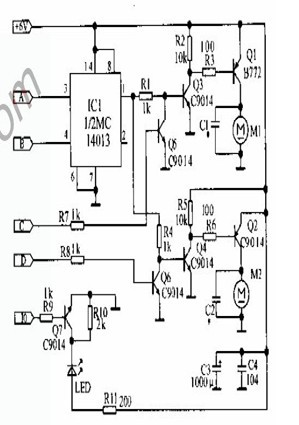 遥控中山舰电子电路图