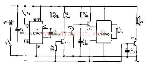 图解生日礼物盒原理的电路图