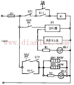 CXG58-02双功能电子消毒柜电路