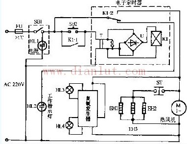 臭氧电子消毒柜电路