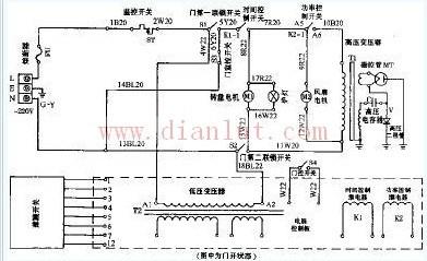 磁控管原理图; lg微波炉电路图