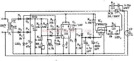 全自动家电保护器电路原理图