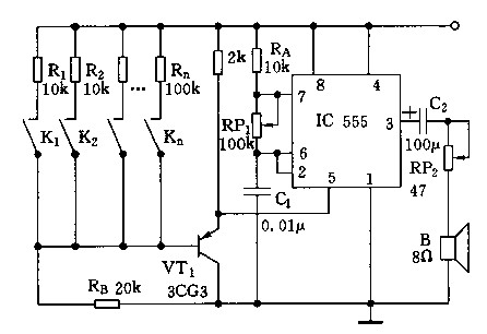 【图】555组成的电子琴电路原理图其它电路图