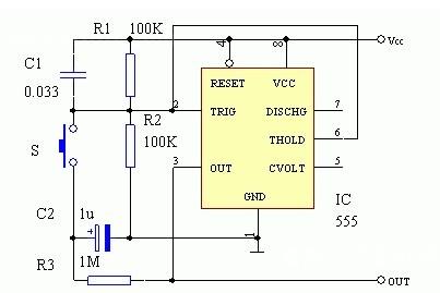 12伏继电器轻触开关接线图