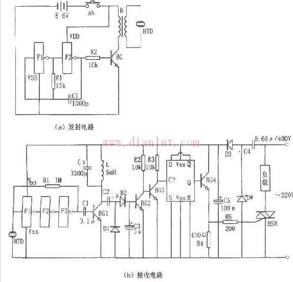 超声波遥控开关的原理电路(C033)