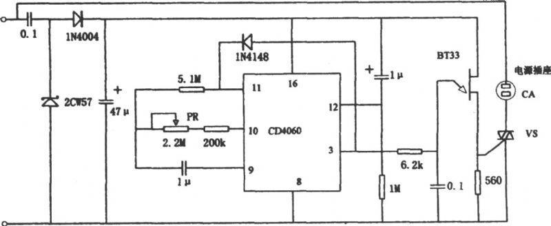 【图】电饭锅预置断电定时器电路原理图控制电路