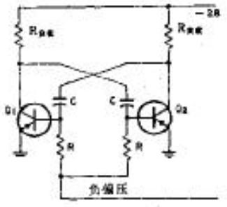 自激多谐振荡器电路原理图-可调频多谐振荡器简易电路图图片