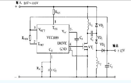 【图】基于ucc3889的典型应用电路图电源电路