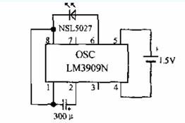 1.5V或3V指示灯电路及其工作原理